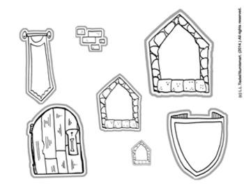 Illumismart Imagines: My Castle (Creative BW/Color Clip-Art Set)