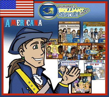 Illumismart's BRILLIANT Americana Bundle! 112 Clip-art Pie