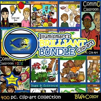 Illumismart's BRILLIANT Bundle: 400 pc. Clip-Art...AMAZING VALUE!!