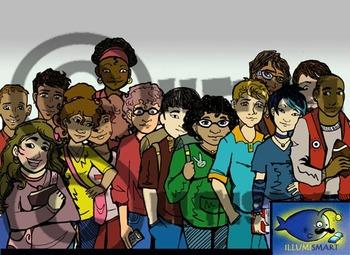 Illumismart's BRILLIANT Teens & Tech Bundle! 102 Clip-art Pieces! BW/Color