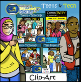 Illumismart's BRILLIANT Teens & Tech Bundle! 102 Clip-art Pieces! BW/Color