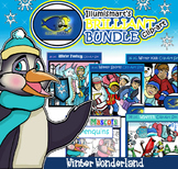 Illumismart's BRILLIANT Winter Wonderland Bundle! 112 Clip-art Pieces! BW/Color
