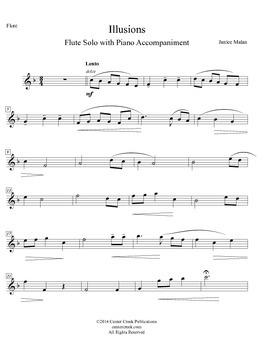 Illusions - flute solo with piano accompaniment