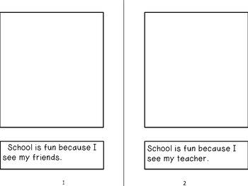 Illustrate My Own Reader ~ School is Fun ~ Back to School