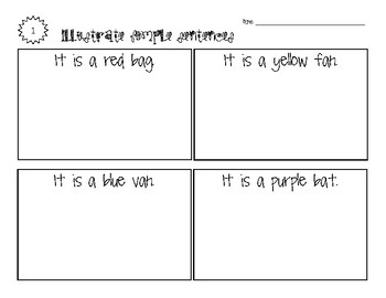 Illustrate Simple Sentences - Dolch and CVC Words - NO PREP