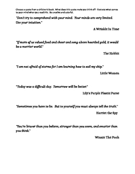 Illustrate a Book Quote