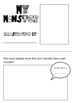 Illustrate a Story - My Monster