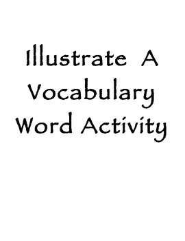Illustrate a Vocabulary Word Activity