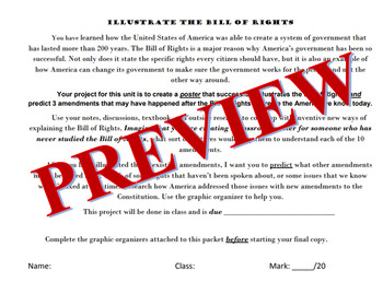 Illustrate the Bill of Rights - Project - Rubric