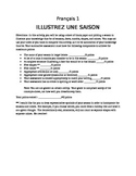 Illustrate the Seasons French activity