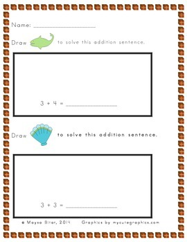 Illustrate to Solve Addition Sentences