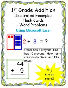 Illustrated Addition and Flash Cards using Microsoft Excel