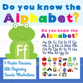 Illustrated Alphabet Beginning Sounds Poster - 4 color ver
