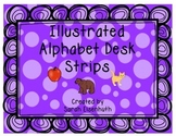 Illustrated Alphabet Strips in Color and B/W