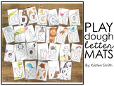 Illustrated Animals Play Dough Letter Mats (lowercase letters)