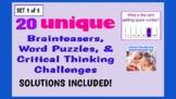 Illustrated Brainteaser PPT Bundle (Set 1 of 5) - 20 uniqu
