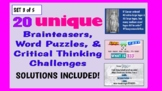 Illustrated Brainteaser PPT Bundle (Set 3 of 5) - 20 uniqu