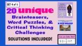 Illustrated Brainteaser PPT Bundle (Set 4 of 5) - 20 uniqu