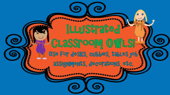 Illustrated Classroom Owls