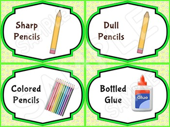 EDITABLE Classroom Supply Labels EDITABLE School Supply Labels BUTTERFLY