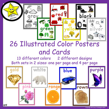 Illustrated Color Posters and Cards