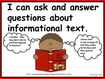 Illustrated Common Core ELA Standards Posters for First Grade