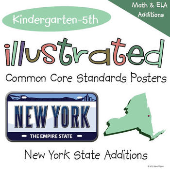Common Core Standards I Can Statements for Grades K-5 - New York Additions