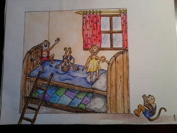 Illustrated Finger Plays - Three Little Monkeys Jumping On The Bed