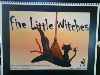 Illustrated Finger Plays - Five Little Witched