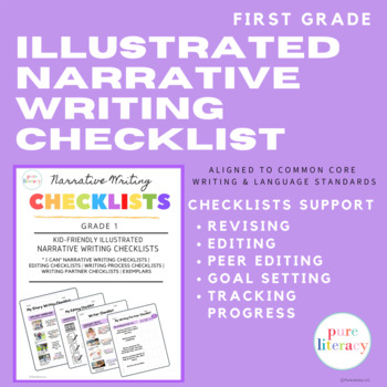 First Grade Illustrated Narrative Writing Checklists