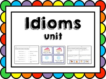 Illustrated Idioms (Adapted Activities and Assessment)