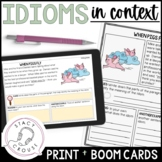 Illustrated Idioms in Context PDF with BOOM CARDS™ Version