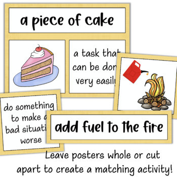 Idioms Posters: Figurative Language