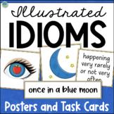 IDIOMS Activities, Task Cards, Posters Figurative Language Print + Digital