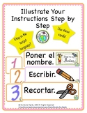 Illustrated Instruction Cards Classroom Decor Printable Spanish Resources