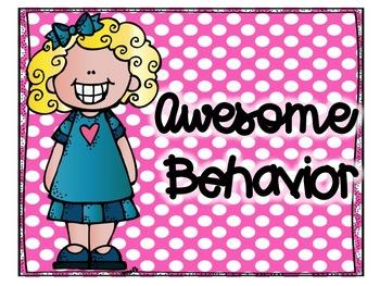 Illustrated Kids Polka Dot Behavior Clip Chart