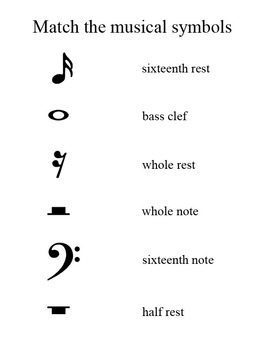 Illustrated Musical Note Words Song - with music activities and mp3