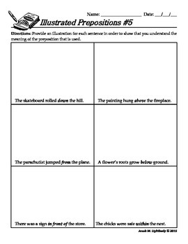 Illustrated Prepositions Review