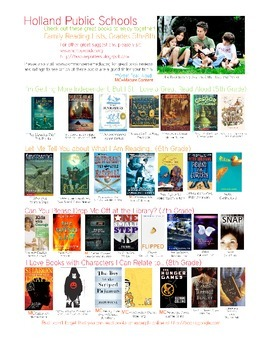 Illustrated Reading List for 5th through 8th Grade (list one)