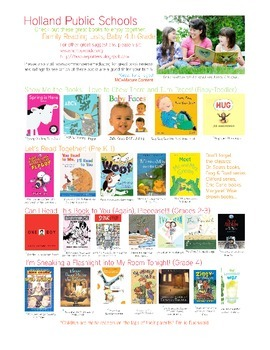 Illustrated Reading List for Pre-K through 4th Grade (list one)