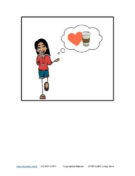 Read-to-Learn-Language Illustrated Story (no text) -The Girl Wants Hot Chocolate