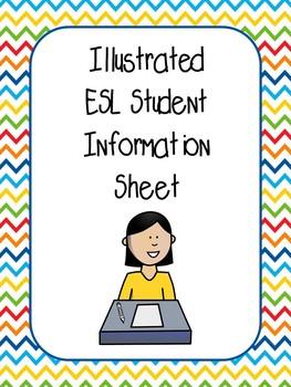Illustrated Student Information Sheet (ESL)