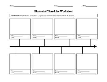 Illustrated Timeline Worksheet