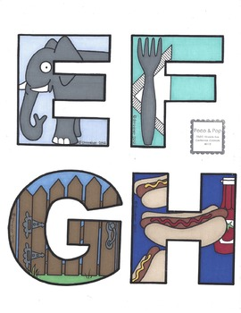 Illustrated Uppercase Alphabet