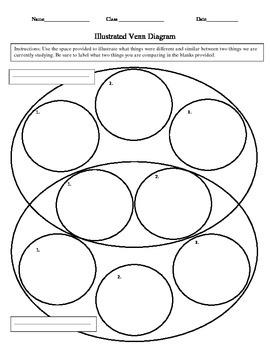 Illustrated Venn Diagram Worksheet