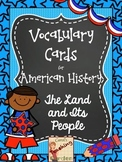 Illustrated Vocabulary Cards & Definitions: Early American History and Geography
