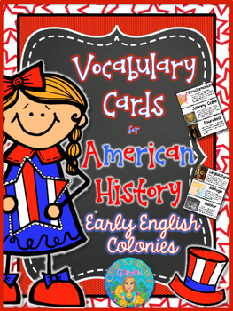 Illustrated Vocabulary Cards for American History: Early E