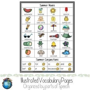 Illustrated Vocabulary Words Bundle