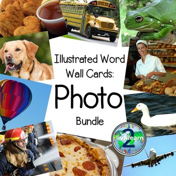 Illustrated Word Wall Cards Photo Bundle