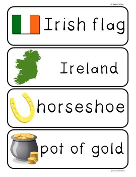 Illustrated Word Wall Cards FREEBIE: St. Patrick's Day!